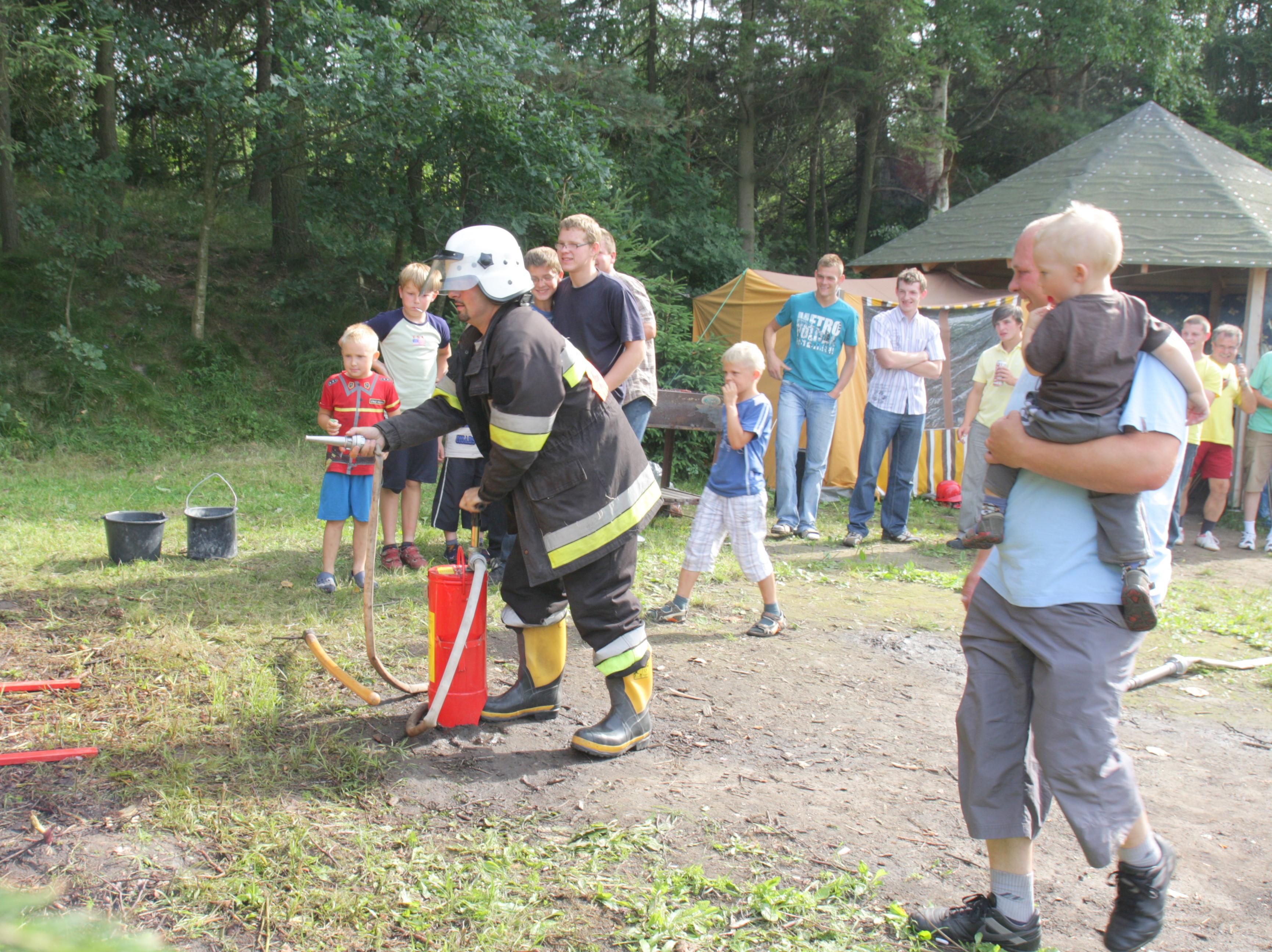 Wesoła strażacka zabawa