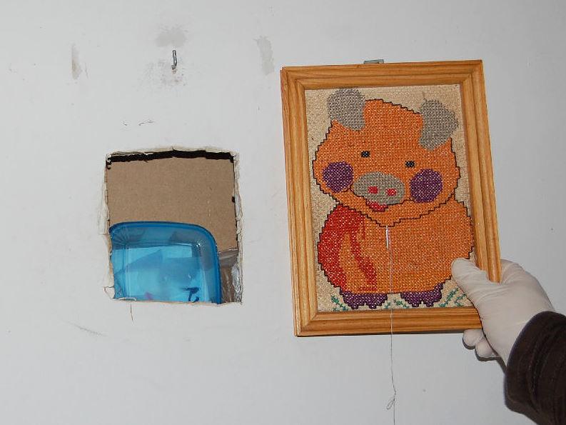 Narkotyki w ścianie